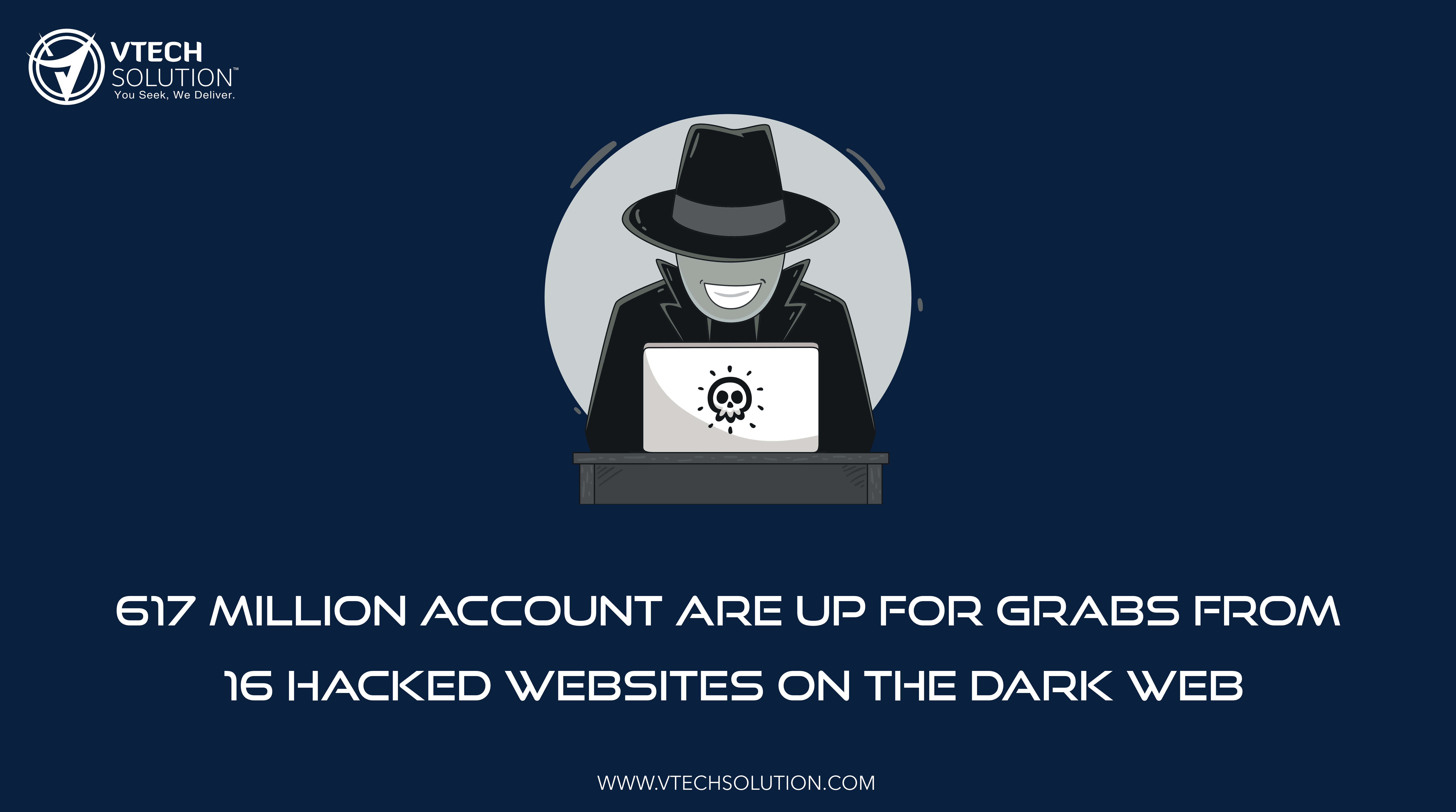 617 Million Account Are Up for Grabs from 16 Hacked Websites On the